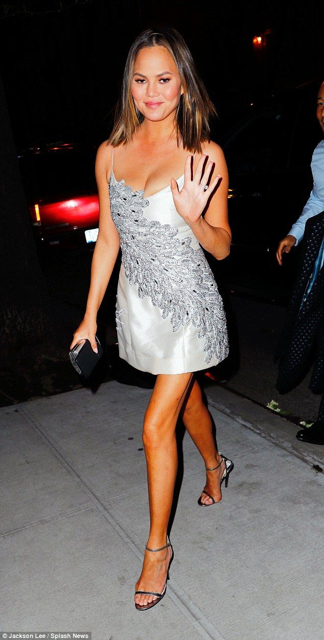 Sparkle in Chrissy's embellished dress by Mestiza New York #DailyMail  Click 'Visit' to buy now