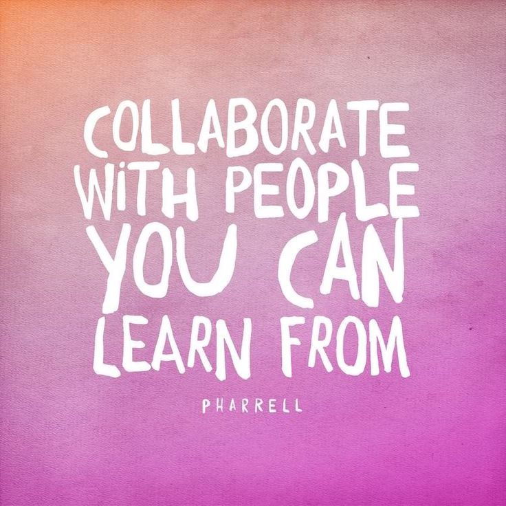 Thought of the day: Collaborate with people you can learn from.  Everyday is a…