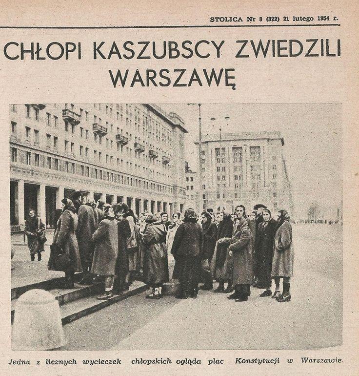 Chłopi Kaszubscy zwiedzają Warszawę 1955