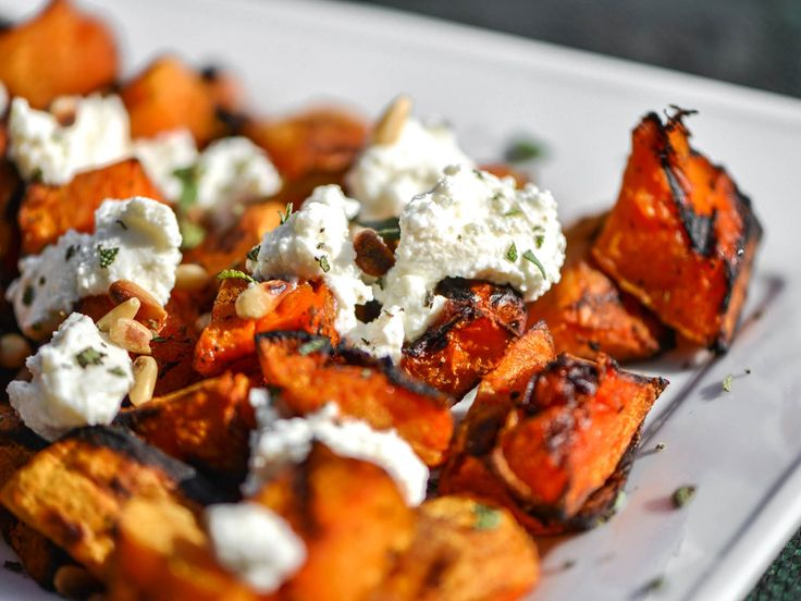Grilled Butternut Squash With Fresh Ricotta, Pine Nuts, and Sage ...