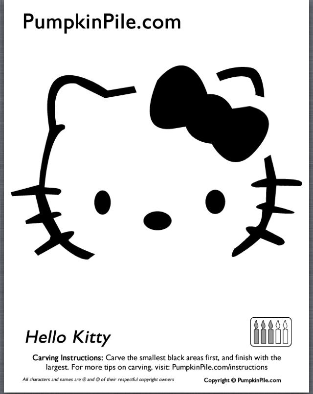 Best hello kitty stencils images on pinterest