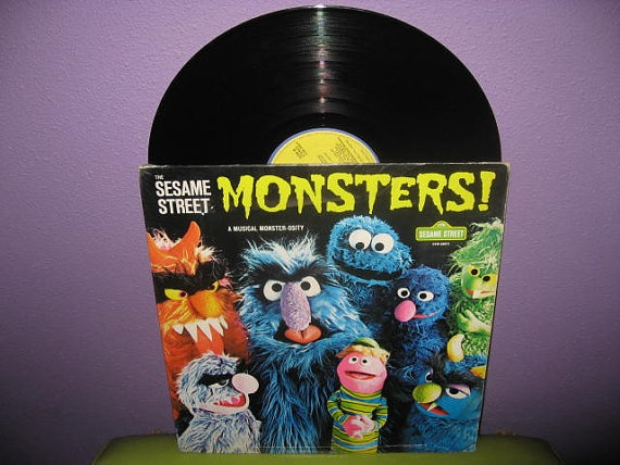 Rare Vinyl Record Sesame Street Monsters LP by JustCoolRecords, $30.00