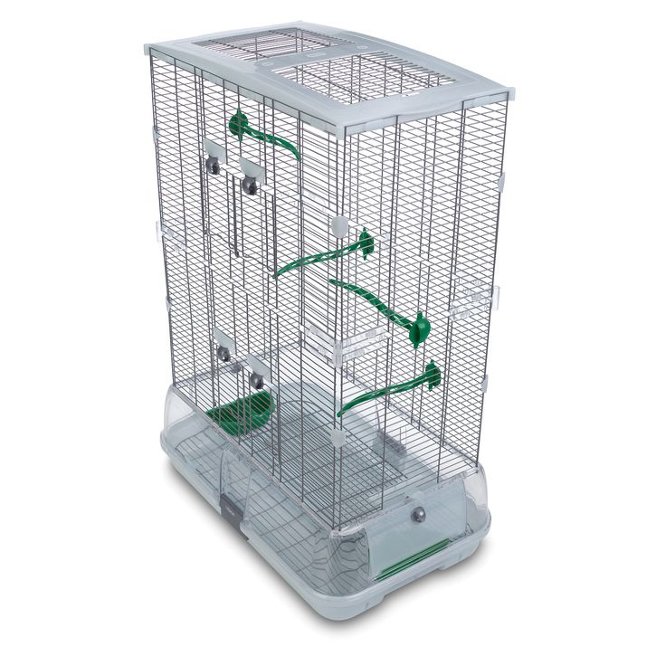 """Vision by Hagen Double Vision  Bird Cage with Small Wire.  35'H x 25""""W x 16""""D"""