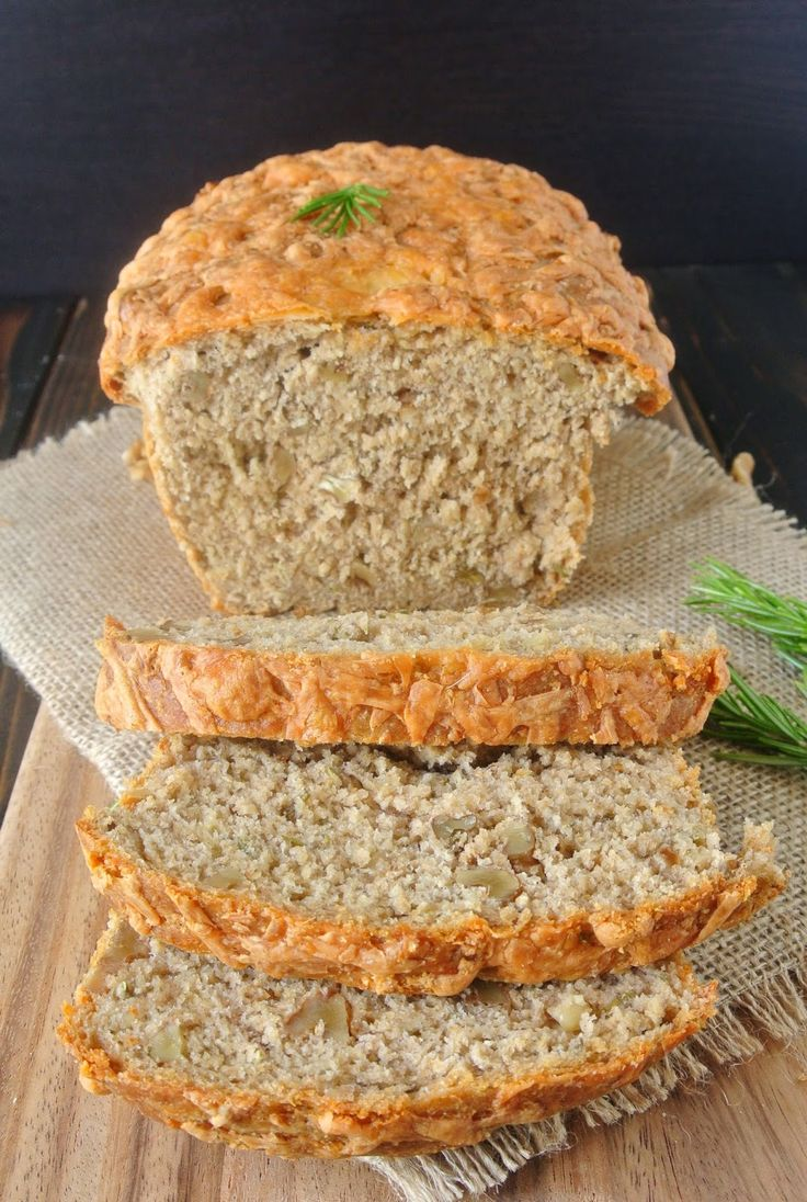 Rosemary cheese and walnut loaf is  healthy whole wheat savory loaf with…