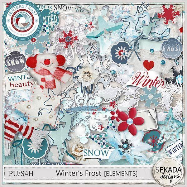 Retiring Save 70% 0ff  Digital Art :: Element Packs :: Winters Frost - Elements
