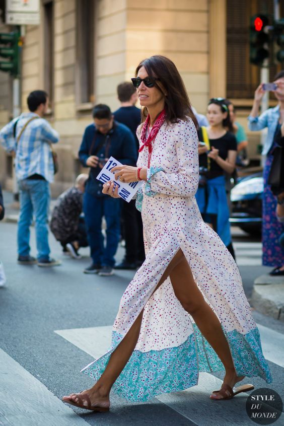 A floral maxi dress is a must for the summer time