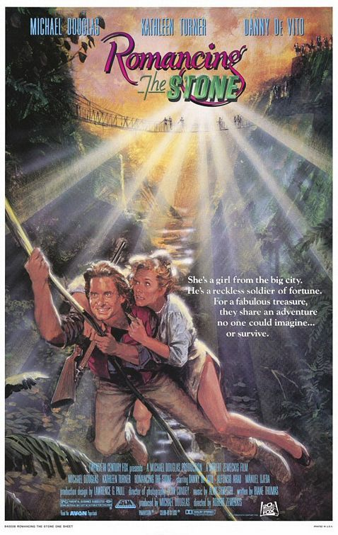 Romancing the Stone (1984) PG* - Second-rate Indiana Jones wannabe.