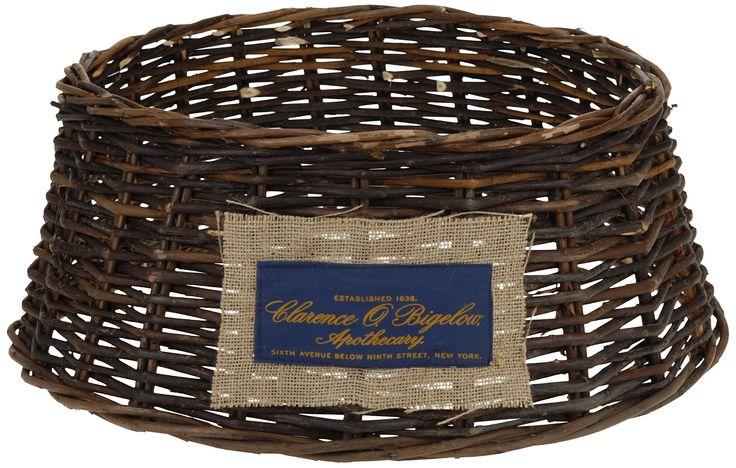 Willow basket christmas tree cover skirt