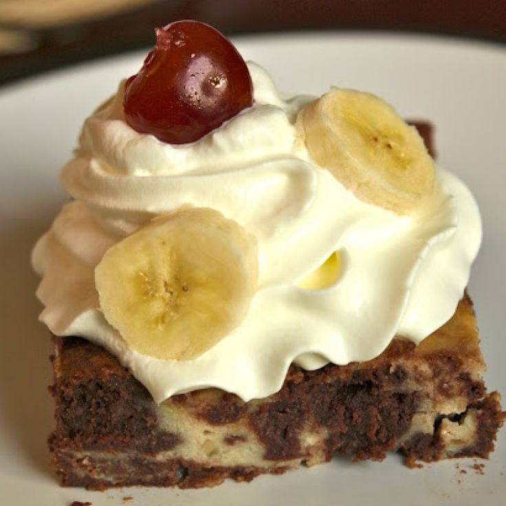 . Banana Split Brownies Recipe from Grandmothers Kitchen.