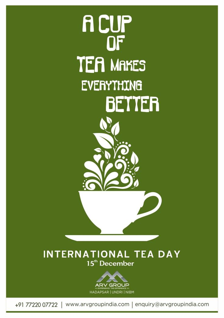 A cup of tea makes everything better... #InternationalTeaDay !