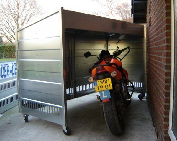 Draaibare verplaatsbare metalen berging voor motor fiets of