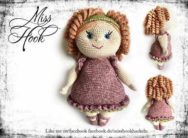 Crochet Doll pattern Miss Rubi // Miss Hook  Like me ob Facebook... http://facebook.de/misshookhaekeln