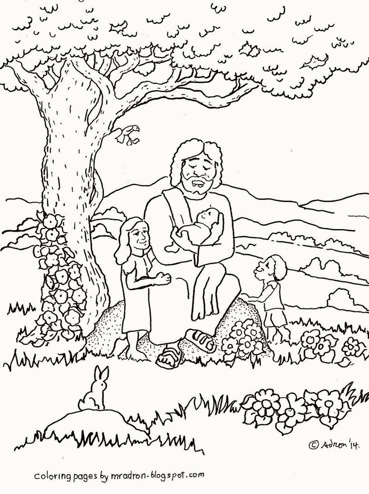 103 best images about sunday school coloring pages on for Jesus blesses the children coloring page