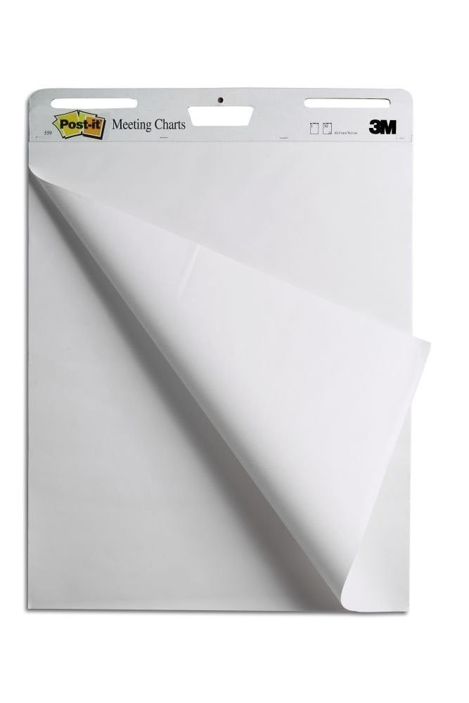 Self-Stick Easel Pad 25 x 30.5 Inches 30-Sheet Pads 2 Pack Sticky Easel White #Postit