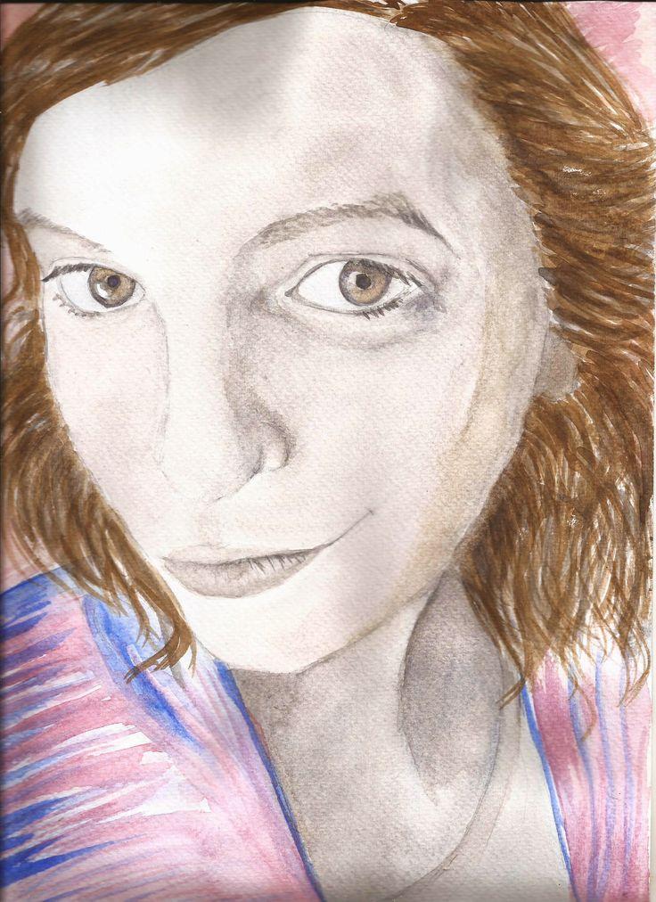"""""""Paula"""" Retrato en acuarela. Retratos por encargo en Argentina."""