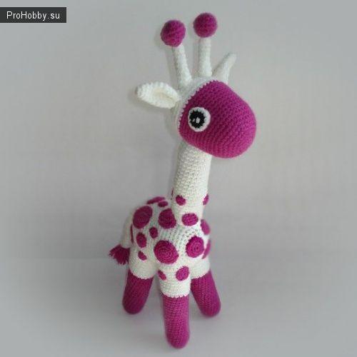 Вяжем яркого жирафа
