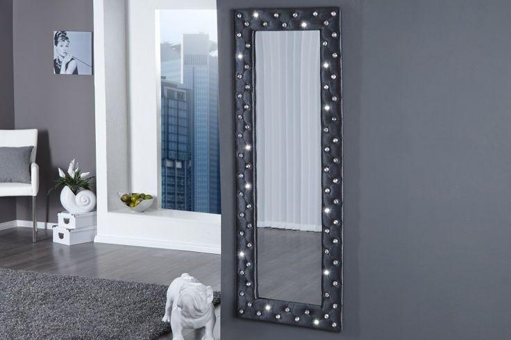 Nástenné zrkadlo BOUTIQUE XL - sivá