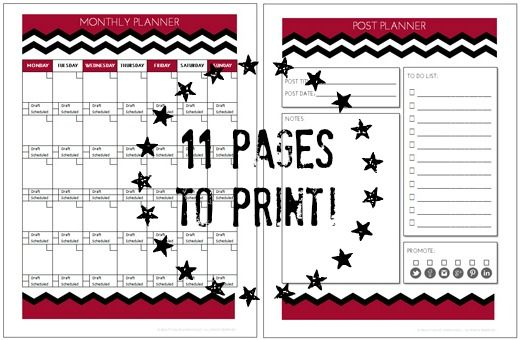 Get a copy of My Blog Planner for FREE