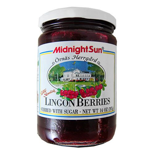This brand is the supplier of lingonberries to the queen of Sweden! The perfect holiday treat. Midnight Sun Lingonberries in Sugar - $8.00