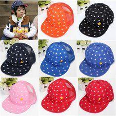 #Banggood Мальчики дети регулируемый бейсбол хип-хоп крышка плоская шляпа маленькая звезда (933623) #SuperDeals