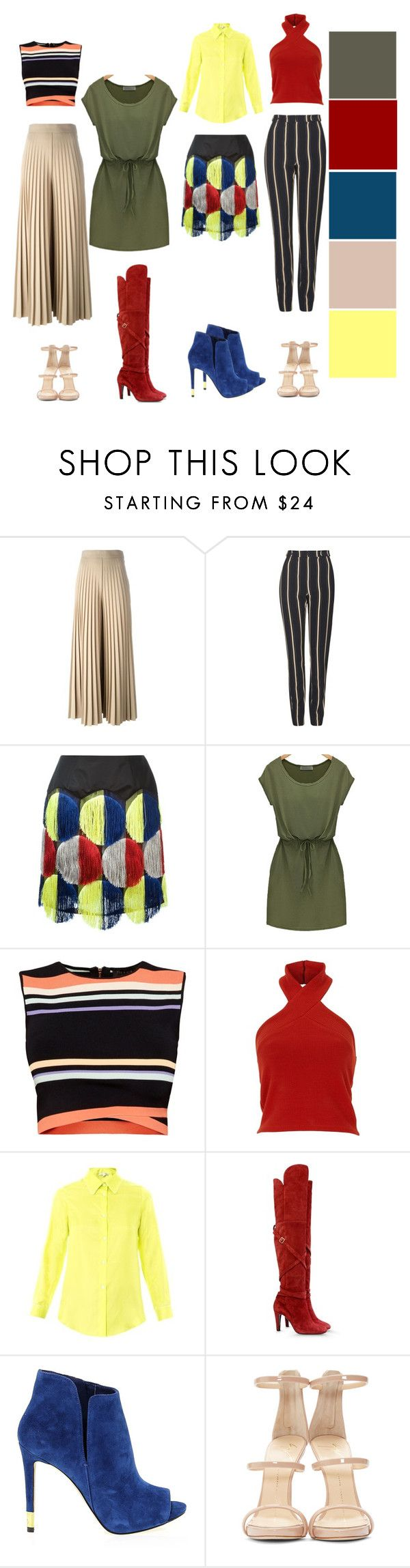 """""""Untitled #352"""" by theclothesmind on Polyvore featuring Givenchy, Topshop, Marco de Vincenzo, Ted Baker, Raphaëlla Riboud, Alberta Ferretti, GUESS, Giuseppe Zanotti, women's clothing and women"""