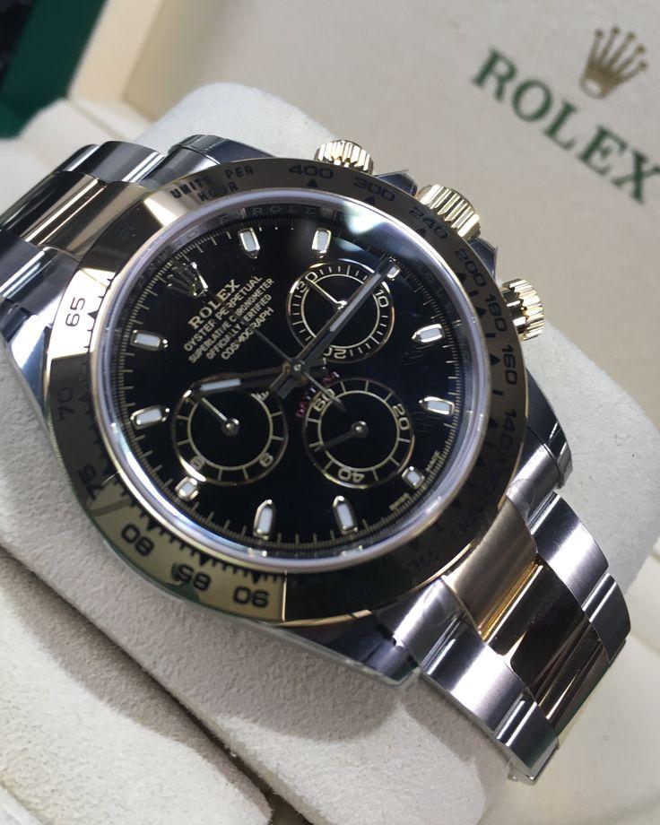 Rolex Daytona Steel & Gold Black Dial 116503