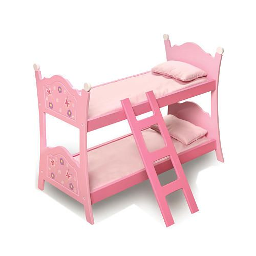Blossoms and Butterflies Baby Doll Bunk Bed  - Badger Basket Toys -  Doll Furniture - FAO Schwarz®