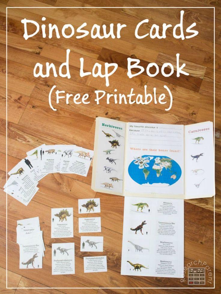 free dinosaur cards and lapbook the frugal homeschooling mom free printables for. Black Bedroom Furniture Sets. Home Design Ideas