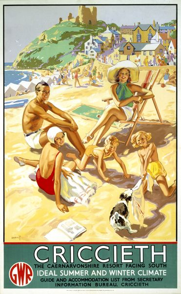 We love this old poster! Criccieth  Albert Lambert, 1937
