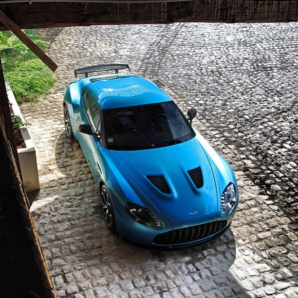 Cool Blue Aston Martin Zagato V12