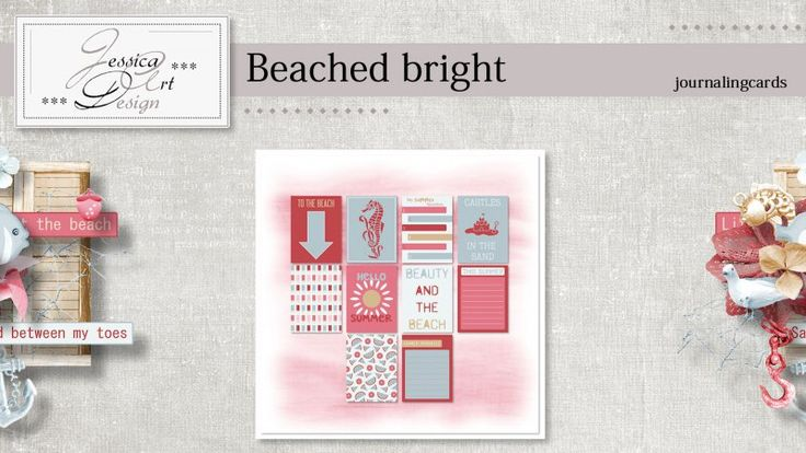 Beached bright journalingcards by Jessica art-design