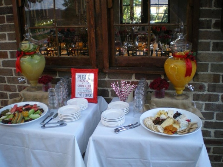 Refreshments for our guests between the ceremony and reception