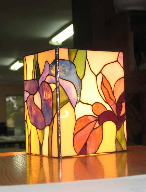 colored glass lighting. Stained Glass Lamps, Panels, Projects, Lights, Paint, Colored Glass, Catcher, Candle Holders, Chandelier Lighting