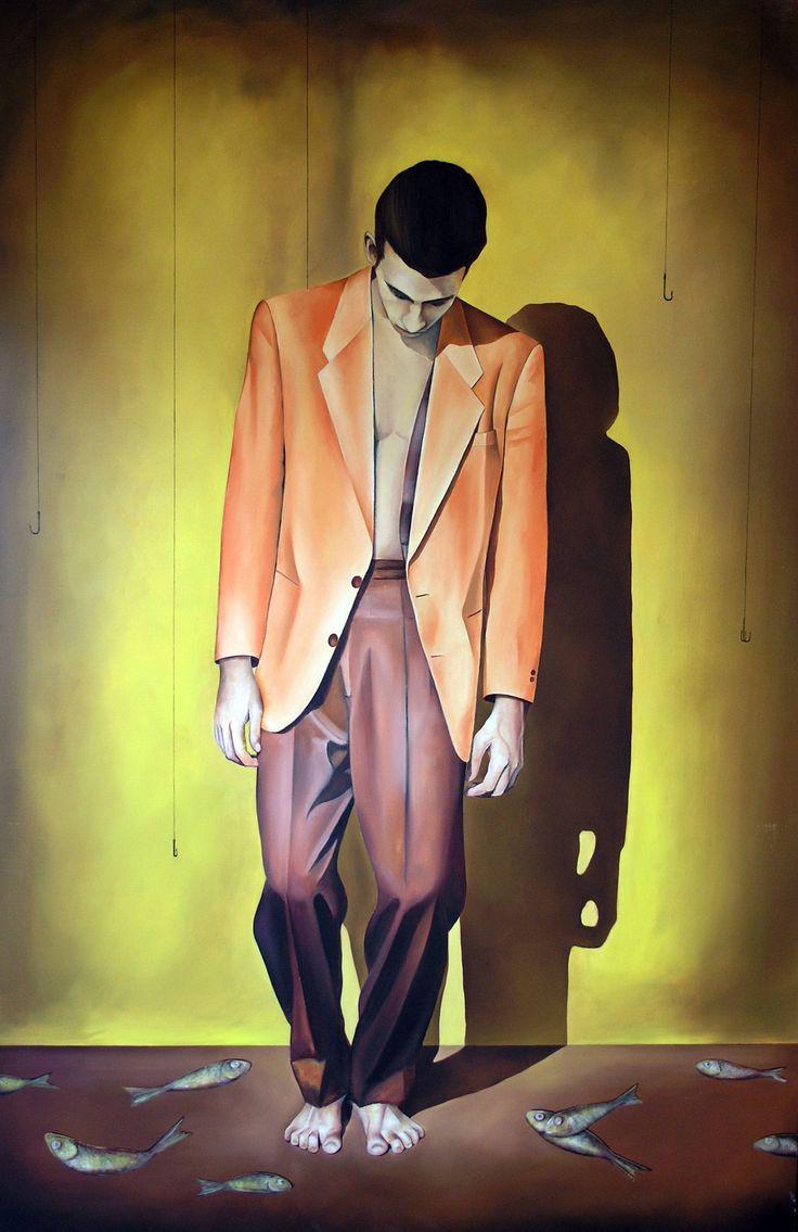 Freefall 1 Triptych Oil on linen 190cm x 360cm #elias_kolivas #oilpainting #art
