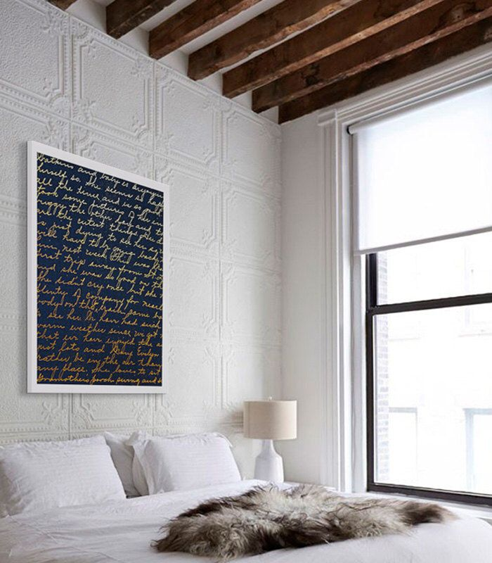 Love Art Print Love Letter Print Gold Foil Art Bedroom Wall Decor Beautiful Art Gift for Her Navy and Gold Artwork Home Staging Cheap Art by CocoAndJamesHome on Etsy https://www.etsy.com/uk/listing/270102682/love-art-print-love-letter-print-gold