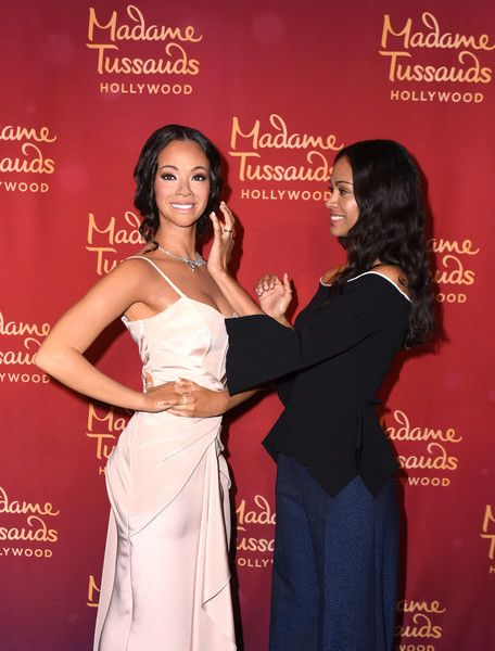Zoe Saldana Photos Photos - Zoe Saldana unveils her wax figure At Madame Tussauds Hollywood on April 7, 2017 in Hollywood, California. - Zoe Saldana To Unveil Wax Figure At Madame Tussauds Hollywood