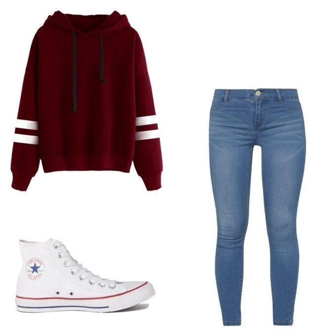 """""""First day of Middle school dream outfit ❤️"""" by bruh-itz-me-nora ❤ liked on Polyvore featuring Converse, Dorothy Perkins, BackToSchool, cute and…"""