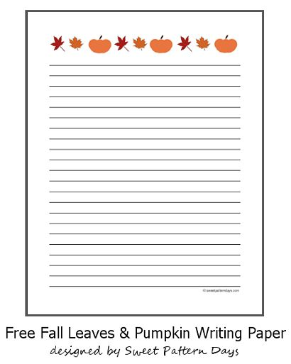 Printable fall themed writing paper stationery for Themed printer paper