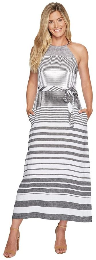 Tommy Bahama Opal Stripe Halter Maxi Dress Women's Dress