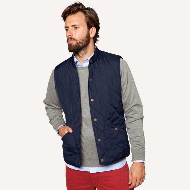 Dartmouth Quilted Vest in Navy | Frank & Oak