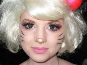 Hello Kitty makeup for SACANIME