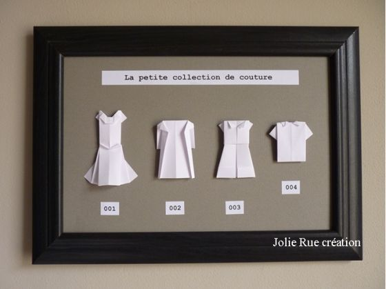 "tuto origami ""la petite collection de couture"" (http://www.en.origami-club.com/clothes/index.html)"