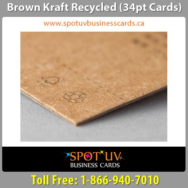 19 best plastic business cards images on pinterest plastic brand brown kraft recycled business cards in canada reheart Gallery