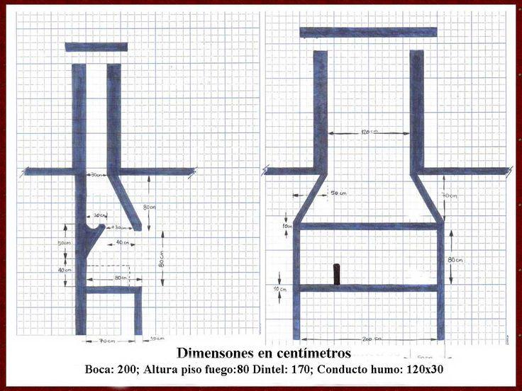 M s de 25 ideas incre bles sobre planos de chimeneas en - Planos de chimeneas de ladrillo ...