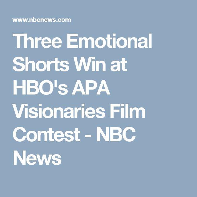 Three Emotional Shorts Win at HBO's APA Visionaries Film Contest - NBC News