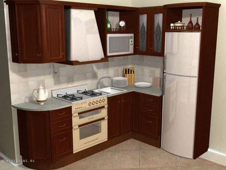 Маленькие кухни дизайн фото угловые с холодильником
