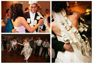 """The Mexican Money Dance  The  money dance involves the male guests """"paying"""" to dance with the bride. However, guests are expected to be generous when """"paying"""" since the money collected is used by the newlyweds on their honeymoon, and when setting up their new household."""