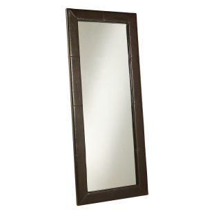 Large Leather Floor Mirror - Brown - 31W x 70H in. - Floor Mirrors at Simply Mirrors