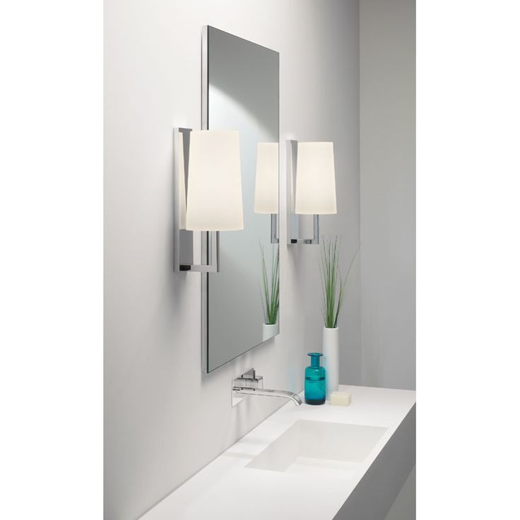 Riva 350 Polished Chrome Wall Lamp For Bathroom Lighting (shade Not  Included) By Astro Lighting At Sparks Direct   In Action