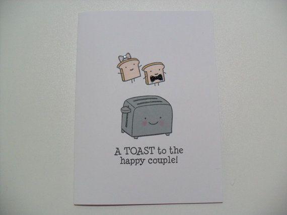 Handmade Engagement/Wedding Card  Wedding Shower door GGgreetings